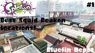 Splatoon - Best Squid Beakon Locations Ep.1 (Bluefin Depot)