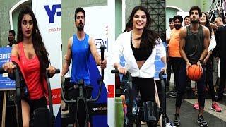Niddhi Agerwal, Saqib Saleem, Karan Tacker, Rhea Chakraborthy Non Stop Workout at DFY Launch