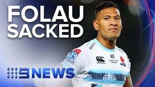 Rugby Australia Terminate Israel Folau's Contract   Nine News Australia