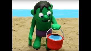 ¡HULK JUEGA EN LA PLAYA! 👶Dibujos Animados para niños y bebés!!! 💙💚💛dibusYmas