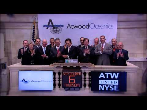 Atwood Oceanics Celebrates Fifteen Years of Trading ring the NYSE Closing Bell