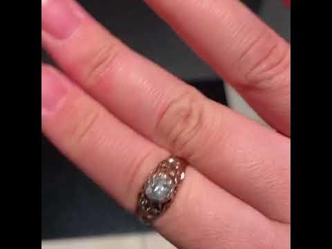 Antique victorian Georgian foil back diamond ring