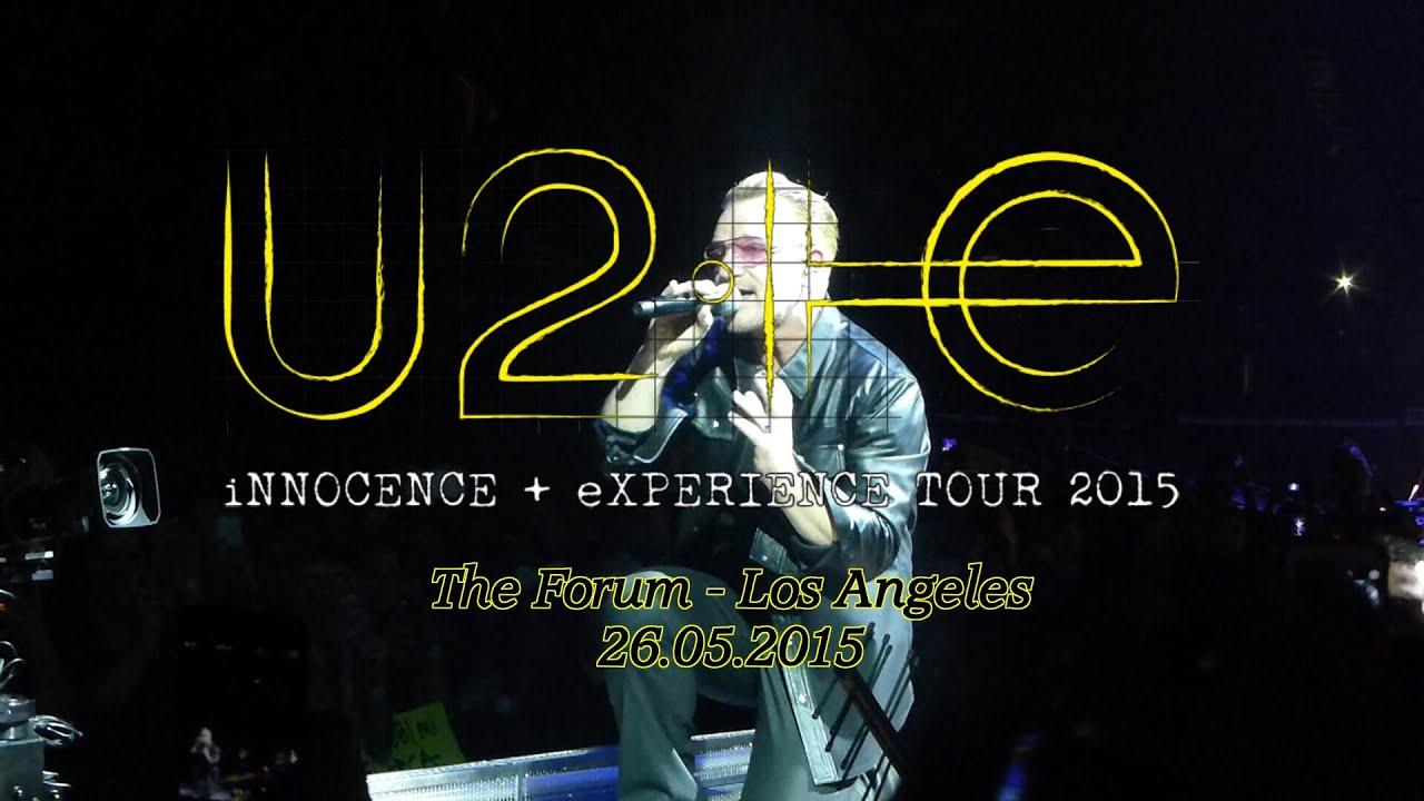 Innocence And Experience Tour U Playlist