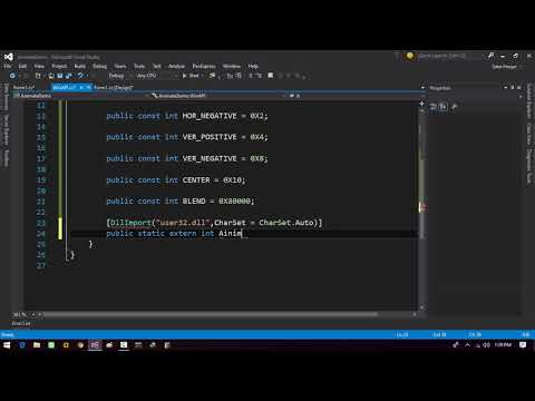 Adding simple Transitions on Form Load in Winform App C#