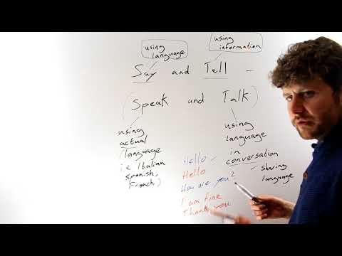 English Lesson 01: Say and Tell - Irish Teacher