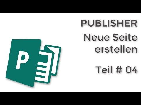 04 Publisher Neue Seite Erstellen
