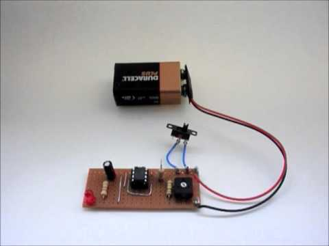Irby Electronics Project 11: Adjustable Flashing L.E.D. Using An Integrated Circuit