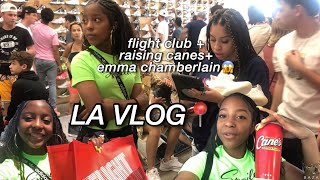 LA VLOG�| bought yeezys @ flight club, tried raising cane's, and SAW emma chamberlain 😱