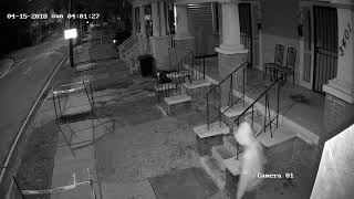 Surveillance video of double shooting in New Orleans
