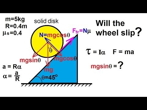 Physics - Mechanics: Rigid Body Rotation (7 of 10)  Rolling Object on an Incline: Ex 1