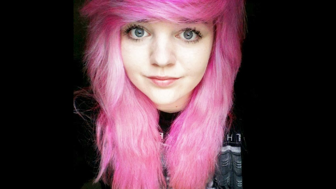 How to get pink/ baby pink hair - YouTube
