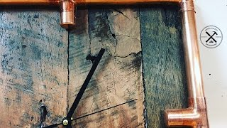 DIY Make a clock with copper and reclaimed Hardwood
