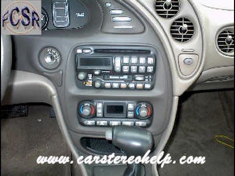 Pontiac Bonneville Car Stereo Removal - YouTube