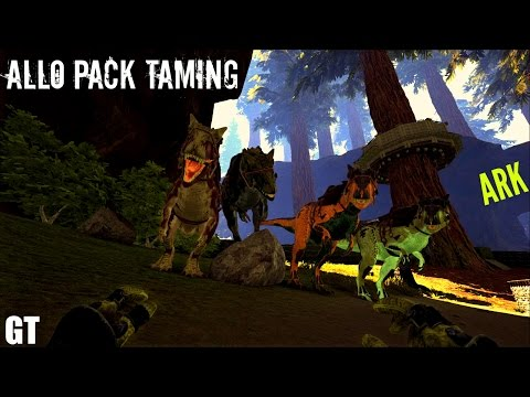 TAMING AN ALLOSAURUS PACK (E12) - ARK: Survival Evolved