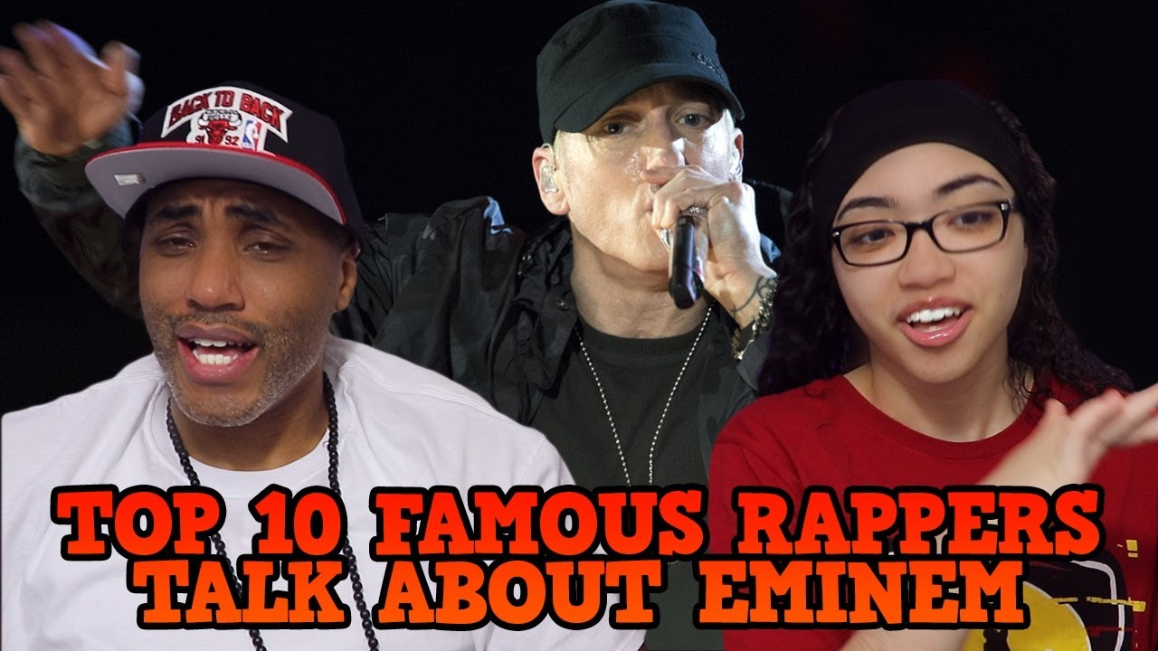 MY DAD REACTS TO Top 10 Famous Rappers Talk About Eminem REACTION