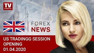 InstaForex tv news: 01.04.2020: USDX ready to jump above 100 (USDХ, DJIA, USD/CAD)