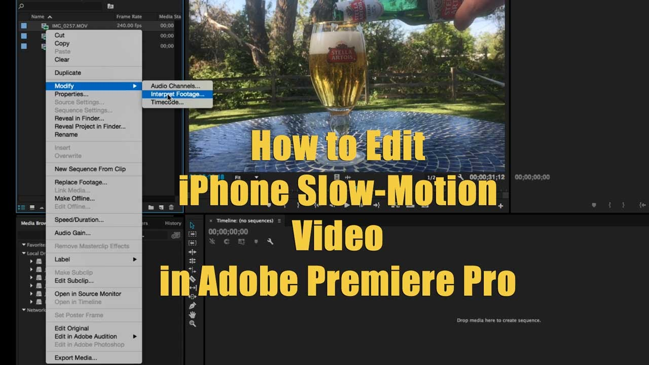 how to do slow motion on iphone how to edit iphone motion in adobe premiere 20002