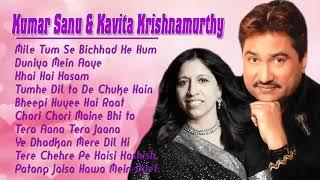 Kumar Sanu Kavita Krishnamurthy Hindi Old Songs Hits 90s Bollywood Romantic Songs Evergree