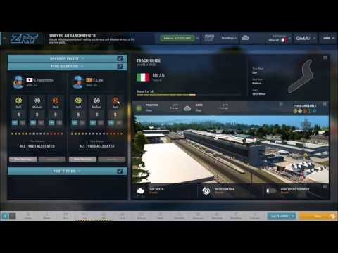 Motorsport Manager Gameplay - Practice and Race Strategy