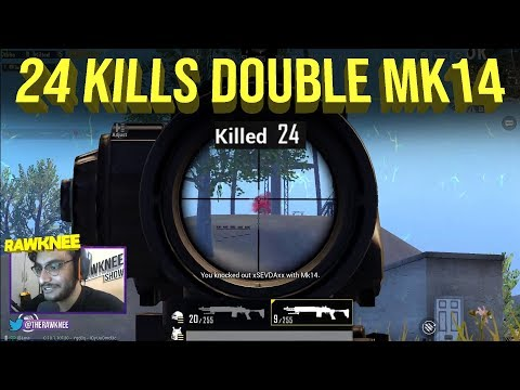 24 Kills Double Mk14 in Solo vs Squad | PUBG MOBILE HIGHLIGHTS | RAWKNEE SNIPING