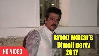 Anil Kapoor Javed Akhtar And Shabana Azmi Diwali Party 2017