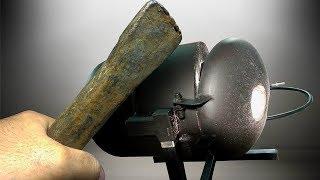 Газовый горн - плавильня  из баллона от фреона своими руками.
