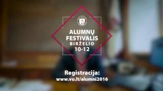 Rektoriaus kvietimas į VU alumnų festivalį 2016