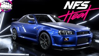 NEED FOR SPEED HEAT - Nissan Skyline R34 GT-R - Racerbuild - NFS Heat Carbuild