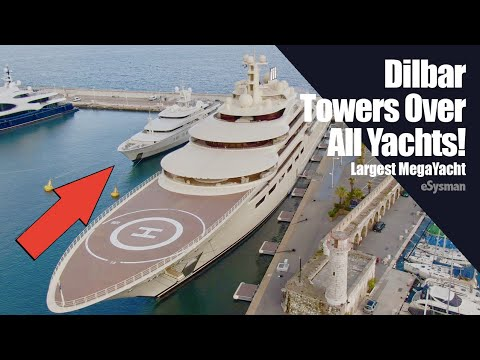 Largest Yacht in World - Dilbar Towers Over All Yachts! - Largest Yacht