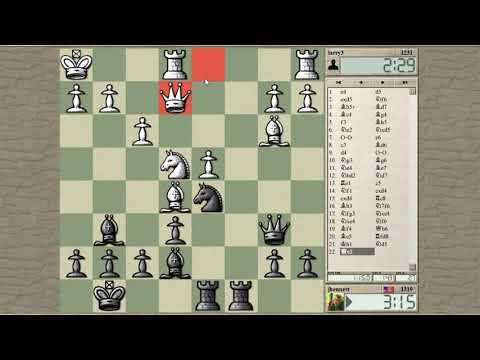 Blitz chess with live commentary #823: Scandinavian (center counter) defense