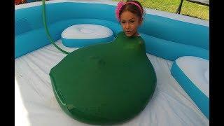 ELİF DEV BALONA GİRDİ, BU KEZ BAŞARDIK, eğlenceli çocuk su