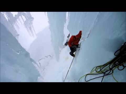 Ice Climbing Darran Mountains Fiordland New Zealand, Squealing the second ascent