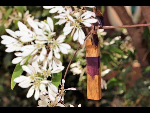 How to Make Secret Wood Resin Pendant & Earrings DIY