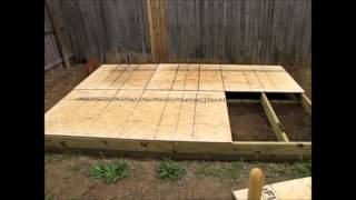 Off Grid Prepper Storage Shed/workshop Construction Part 2 - Floor