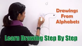 Drawing From Alphabet d | How to Draw with Alphabets | Fun with Alphabets | Drawing for Kids