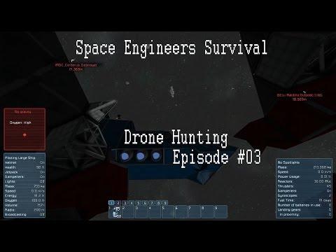 Space Engineers Drone Hunting #03 - Salvage