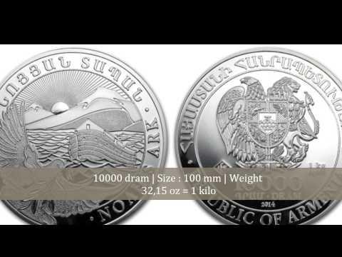 Noah's Ark Armenia Silver bullion coins
