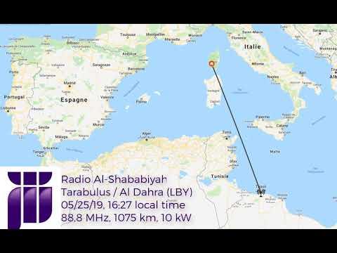 [DX FM] via Es: Al-Shababiyah Radio on 88,8 MHz, Tripoli (LBY), 1075km