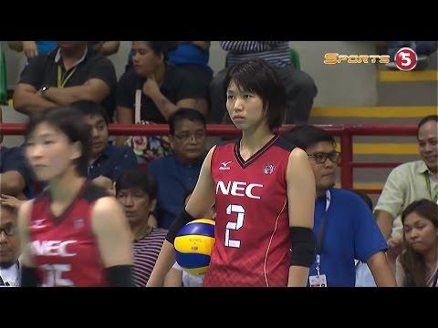 日本(NEC) vs フィリピン バレーボール アジアクラブ選手権 20160907