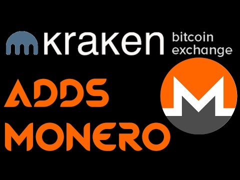 Monero Now on Kraken Exchange! Trade XMR for USD/EUR/BTC