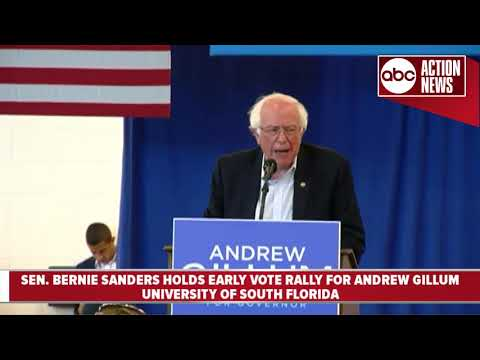 Bernie Sanders holds rally for Andrew Gillum