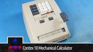 1957 - Bohn Contex 10 Mechanical Calculator In Depth Look