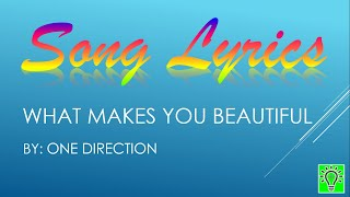 What Makes You Beautiful | One Direction (Lyrics)