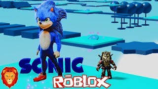 GIANT SONIC IN ROBLOX ? SPANISH SONIC PELICULA IN ROBLOX LEON PICARON