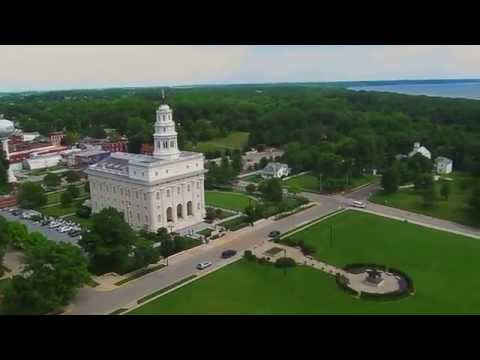 Nauvoo temple and the Mississippi river