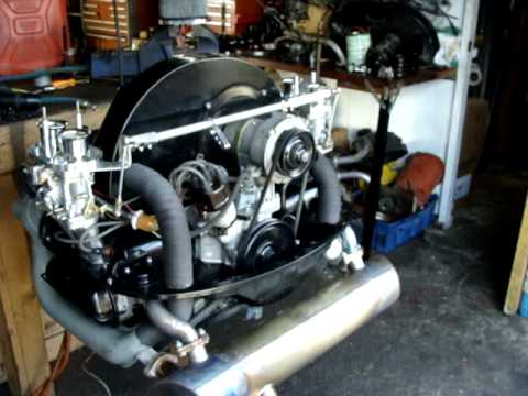 1955cc Vw Splitty Kombi Engine Running On The Stand Mpg