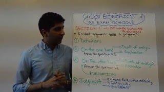 OCR AS Economics - 20 Marker Exam Technique