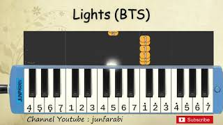 not pianika lights bts - tutorial belajar pianika lagu lights - bts