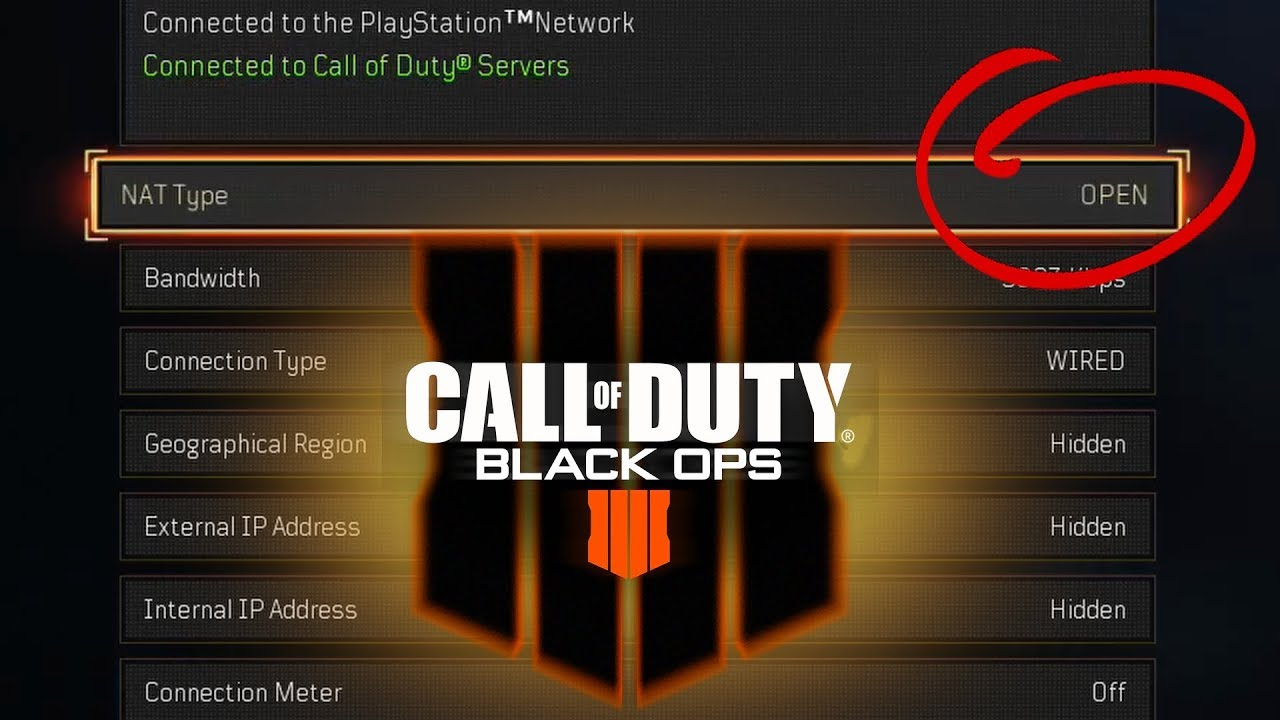 How To Get Open NAT Type on Black Ops 4 (PS4)