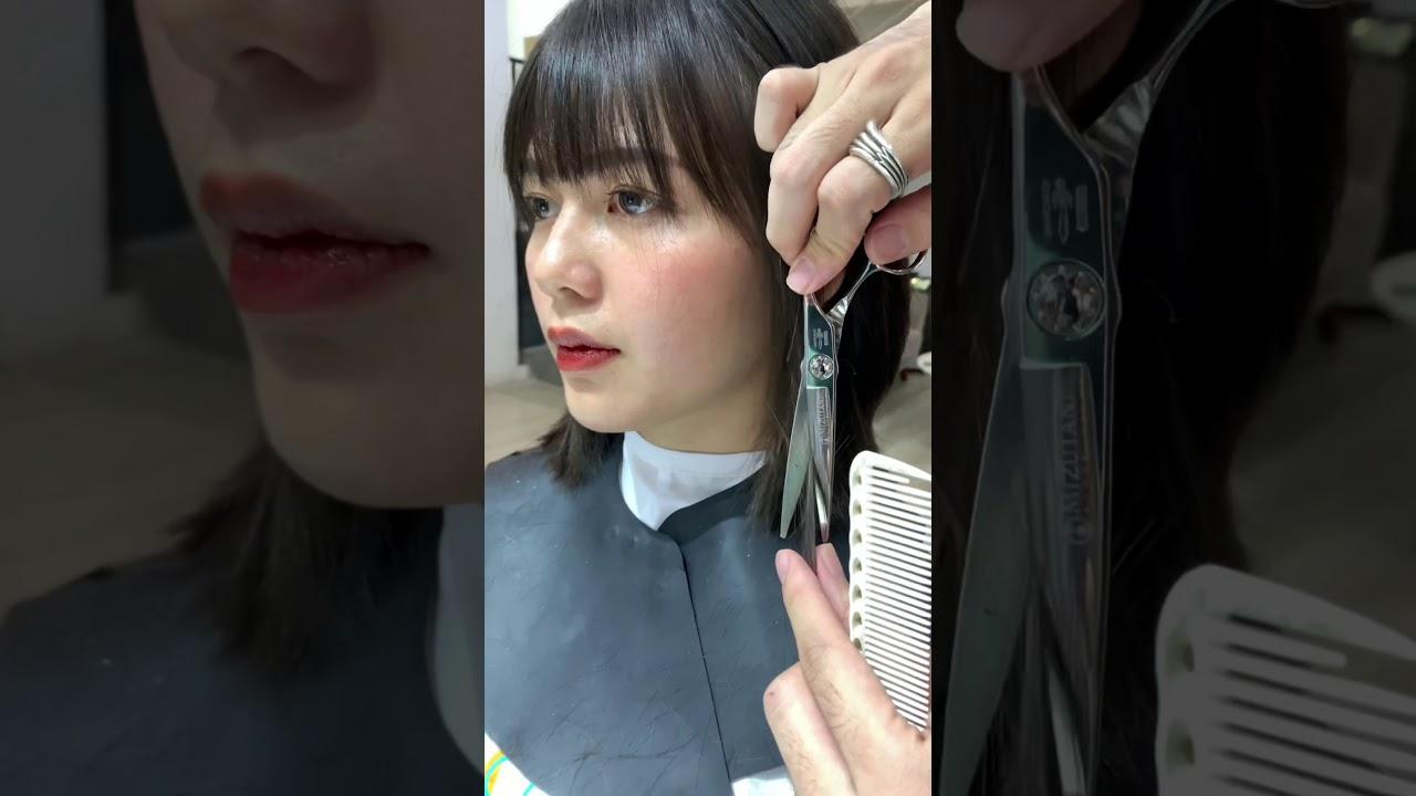 Tóc ngắn ngang vai layer mái ngắn !!! | Khái quát các tài liệu liên quan đến tóc lob mái thưa chuẩn nhất